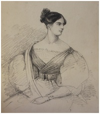 Sketch of Catherine Enys